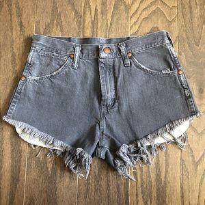 Vintage Wrangler Gray Cutoff Jean Shorts